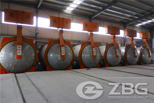 Autoclave for brick production line in Korea