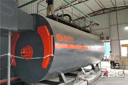 4 ton gas steam boiler for Rubber sheet plant